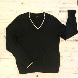Brooks brothers silk cashmere blend V-neck sweater